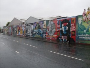 Mural depicting 'The Troubles', Belfast, Northern Ireland