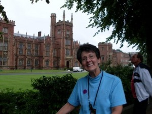 Gayle at Queen's University in Belfast