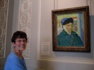 Gayle with Van Gogh at Courant Gallery