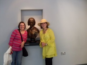 Kelli and Becky in front of Florence Nightingale bust
